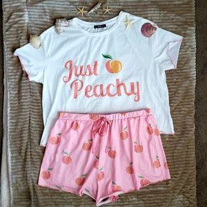 Just Peachy Tee/short pajama set